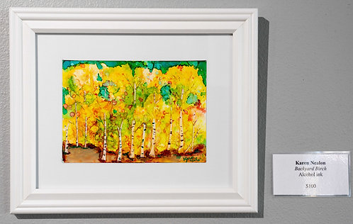 Backyard Birch by Karen Nealon
