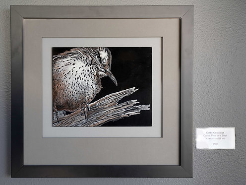 Cactus Wren on a Limb by Kathy Grossman