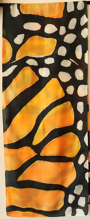 Marvelous Monarch silk scarf by Judy Studwell