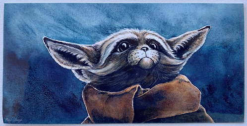 Foxy Yoda Sticker by Rachel Ivanyi