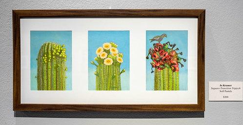 Saguaro Transition Tryptich by Jo Kramer
