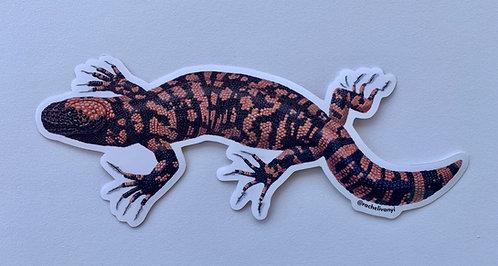 Gila Monster Sticker by Rachel Ivanyi