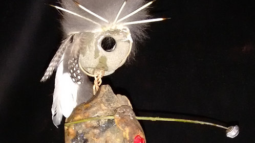 The Wanderer's Path: Found Object Sculpture