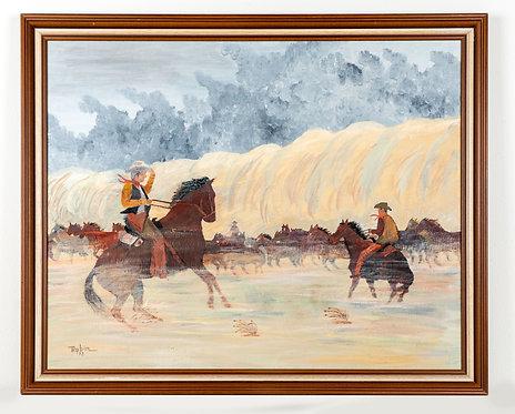 Riders in The Storm original acrylic by Bob Eyler