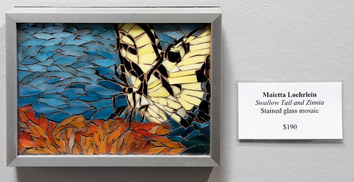 Swallow tail and Zinnia by Marietta Loehrlein