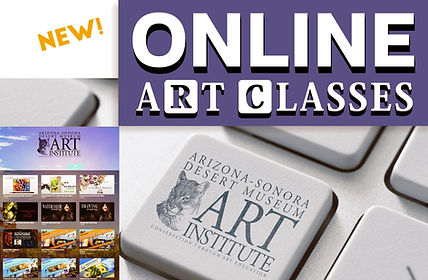 Online art and photography video class subscriptions from the Arizona-Sonora Desert Museum Art Institute