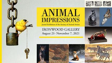 Animal Impressions Art Exhibition by the Society of Animal Artists at the Arizona-Sonora Desert Museum   Tucson, Arizona