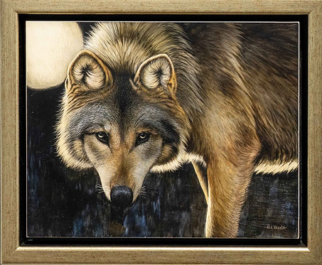 The Hunter's Moon - Mexican Wolf by Cathy Sheeter