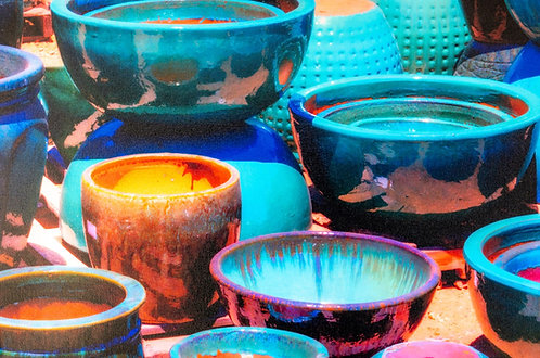 Turquoise Pots by Jay Pierstorff
