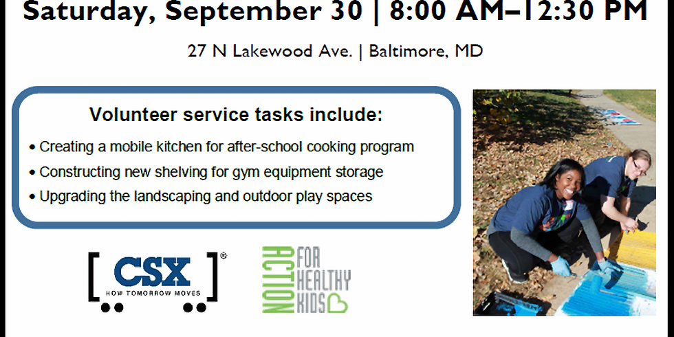 CSX and Action for Healthy Kids Day of Service