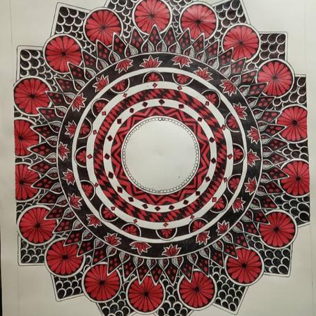 making into mandala | Bisma Bashir