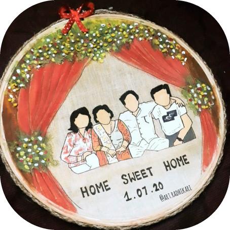 home made portrait hoops  Radhika  mittal