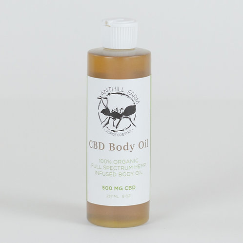 CBD Body Oil 500 mg. scented