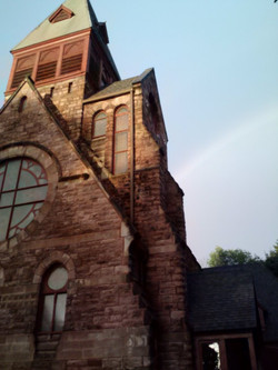 Rainbow Behind the Church