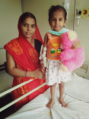 Yashna.jpg financial support to the poor under-privileged children in the hospital.