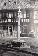 Early photo of sundial