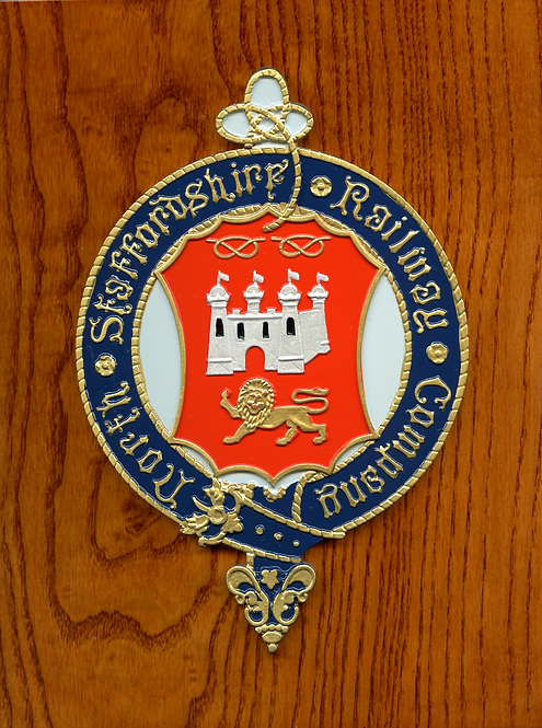 North Staffordshire Railway plaque