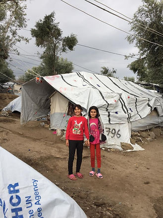 Children at refugee camp