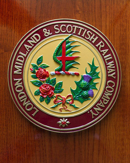 London Midland & Scottish plaque