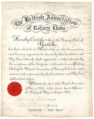 1921 Certificate
