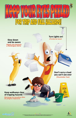 Slips and Trips Safety Poster