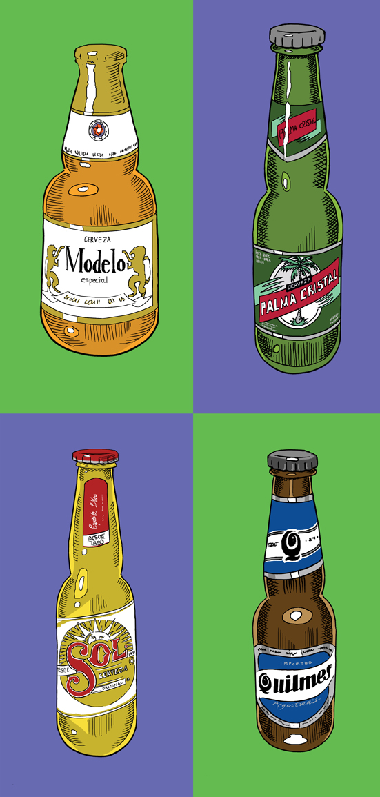 Beer Illustrations for menus