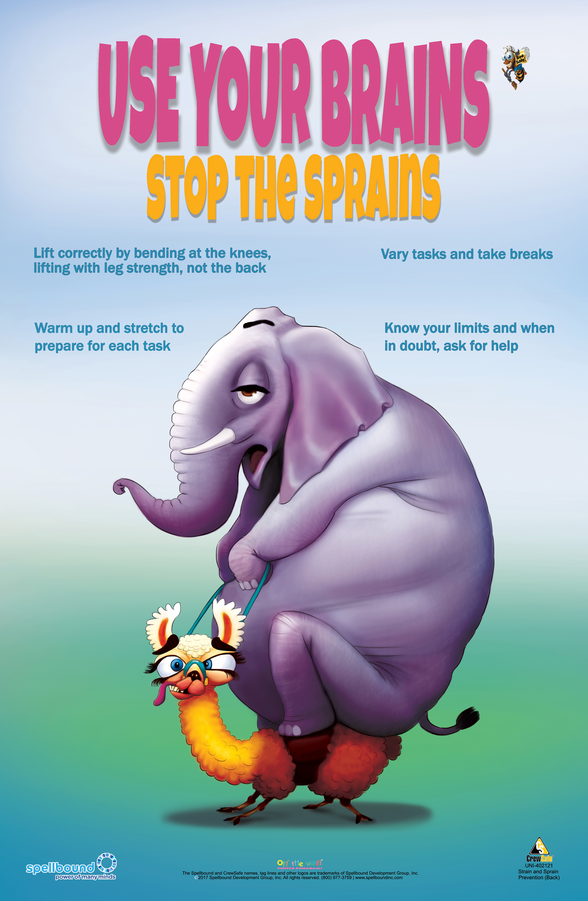 Sprains and Strains Safety Poster