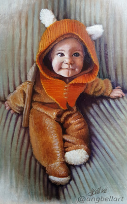 Oil Paint Baby Portrait
