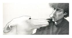 Neil Gaiman and Dog