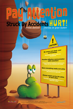 Struck By Danger Safety Poster