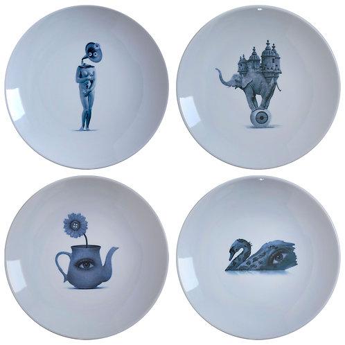 SET OF 4 PLATES