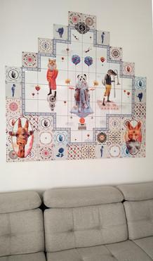 🦊 🐼 🦒 🐊 Painel 1.50 x 1.50 m