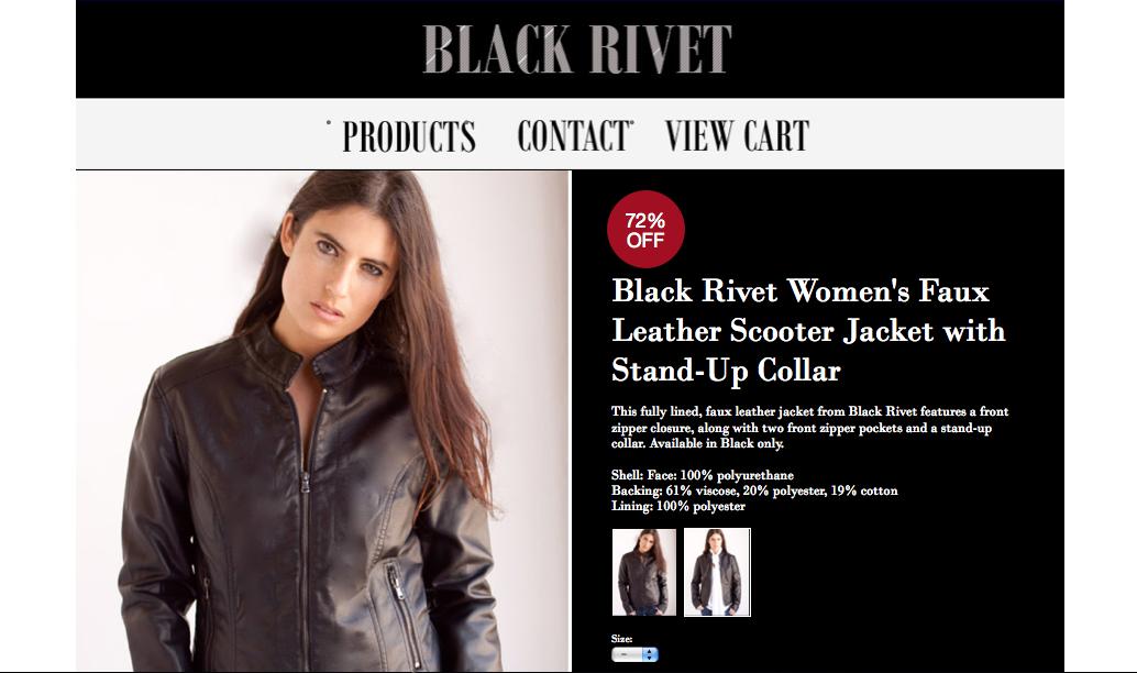 Lauren Sierra Black Rivet Leather