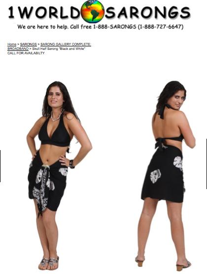 Lauren Sierra Bikini Sarong