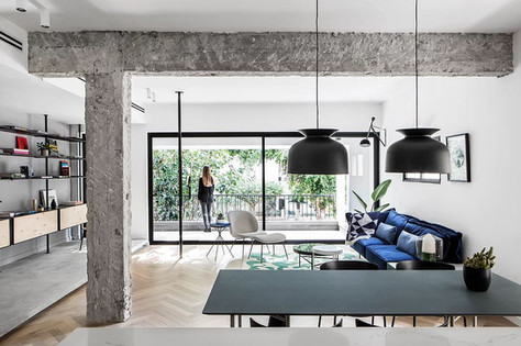 INTERJERO APŽVALGA • žavus 125 kv. m. būstas Tel Avive