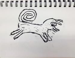 Dog - Lino Print