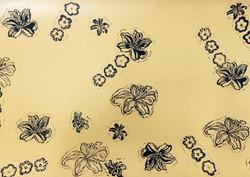 Lino Prints - Lilys