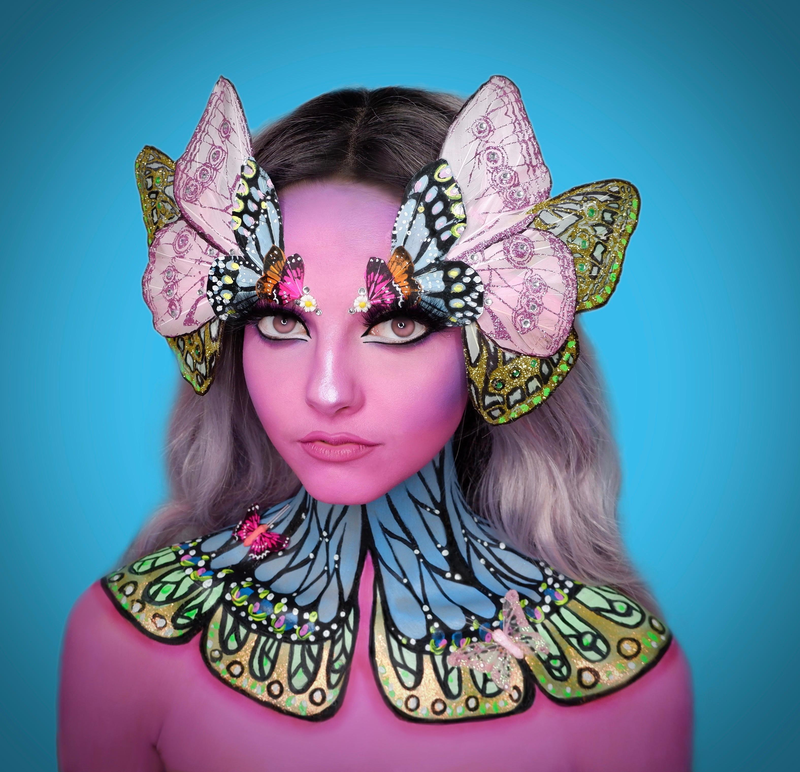 Fantasy Makeup Application