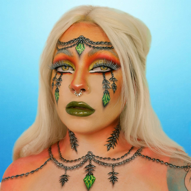 chains gems haloween witch sims cosplay