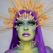 dragon green purple cosplay fantasy make