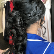 waterfall ponytail with braids formal ha