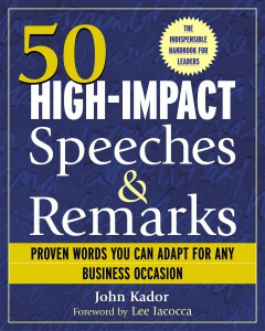The US edition had 50 speeches.