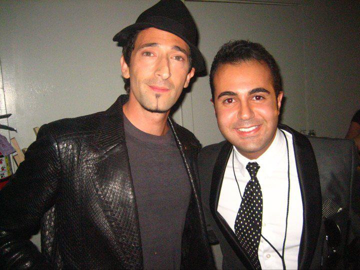 Facebook - with Adrien Brody @ Guys Choi