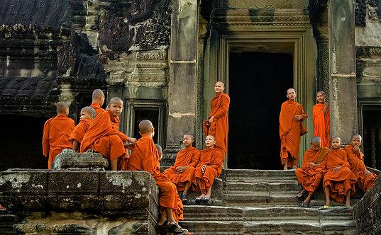 Novices at Angkor wat - ARTLIT™