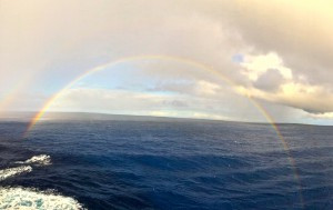 Double rainbow after a short and rare rainshower.