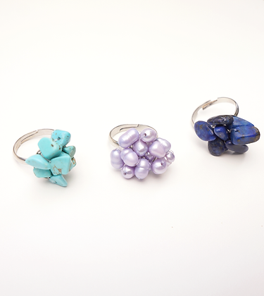 Blossom Ring Set of 3