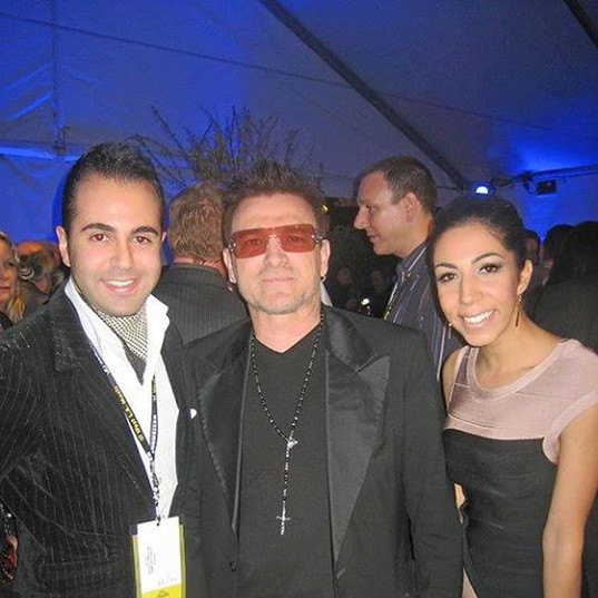 Spending time with Bono