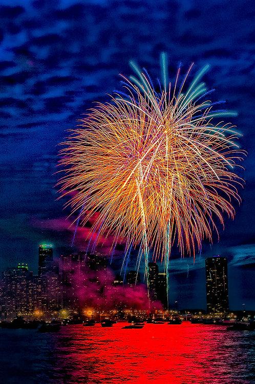 Fireworks Blue Scape - ARTLIT™