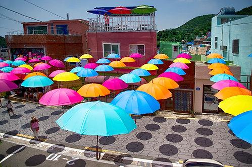 Festive Umbrellas at Gamcheondong  - ARTLIT™
