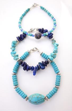 Turquoise 3 Bracelet Set